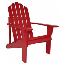 Marina Indoor/Outdoor Adirondack Chair in Chili Pepper