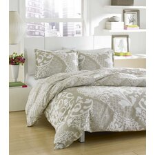 City Scene Medley Duvet Set in Light Grey