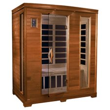 Grand 3 Person Carbon FAR Infrared Sauna in Honey