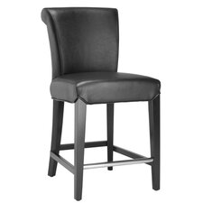 """Seth 24"""" Counter Stool in Black"""