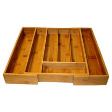 Expandable Cutlery Tray in Brown