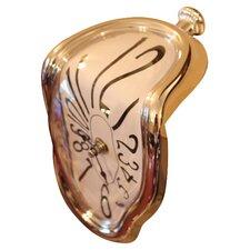 Dali Melting Mantel Clock in Silver