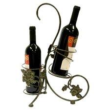 Xiafeng 2 Bottle Wine Rack in Rusted Bronze