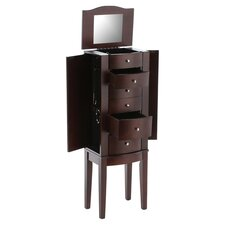 Maxie Jewelry Armoire in Merlot