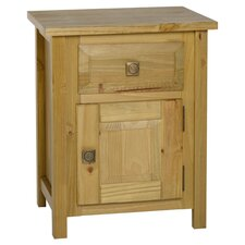 Ecuador 1 Drawer Bedside Table in Medium Oak