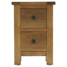 Eden 2 Drawer Bedside Table in Warm Oak