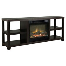 """64"""" TV Stand & Electric Fireplace in Espresso"""