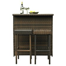Airlie 3 Piece Bar Set in Brown
