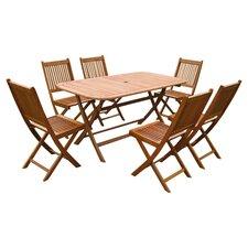 Royal Tahiti Galende 7 Piece Dining Set in Brown