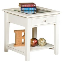Amberly End Table in White