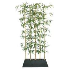 Silk Bamboo Tree & Planter in Black