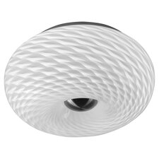 Dalton 2 Light Flush Mount in Satin Chrome