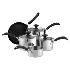 Inspire 8 Piece Nonstick Cookware Set in Silver