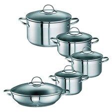 Merana 10 Piece Cookware Set in Silver