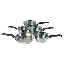 Classic 8 Piece Cookware Set in Silver