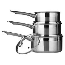 6 Piece Saucepan Set II in Silver