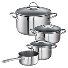 Merena 7 Piece Cookware Set in Silver