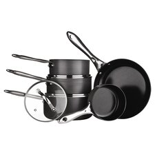 Tenzo H 8 Piece Nonstick Cookware Set in Black