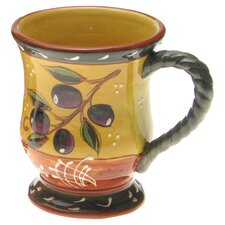 French Olives Mug in Yellow & Rust