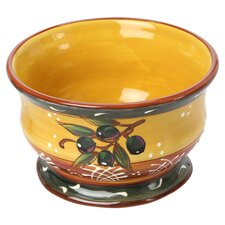 French Olives Ice Cream Bowl in Yellow & Rust