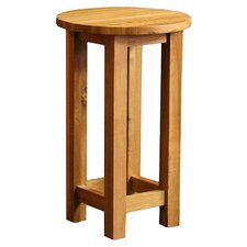 Essentials Round Side Table in Oak