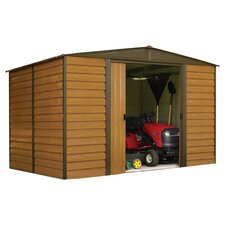 Dallas Storage Shed in Woodgrain & Coffee