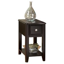 Canaan Chairside Table in Merlot