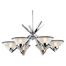 Charles Kelton Refraction 6 Light Chandelier in Polished Chrome