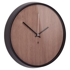 Madera Wall Clock in Black & Walnut