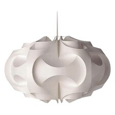 Iceland 1 Light Pendant in White