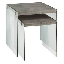 Dryden 2 Piece Nesting Table in Dark Taupe