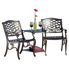 Griffen 3 Piece Dining Set in Black