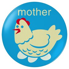 Mother Hen Plate in Blue