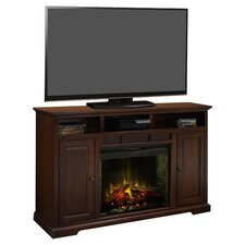 "Brentwood 64"" TV Stand & Electric Fireplace in Danish Cherry"