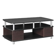 Carson Coffee Table in Cherry & Black