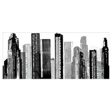 Cityscape Wall Decal in Black & White