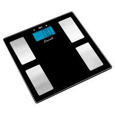 Body Fat & Body Water Muscle Mass Bathroom Scale in Black