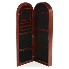 Fenwick Jewelry Armoire in Dark Cherry