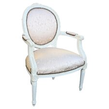 Louis Arm Chair in Ivory