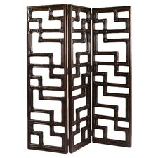 Kilimanjaro 3 Panel Room Divider in Golden Bamboo