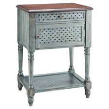 Painted Treasures End Table in Aged Blue