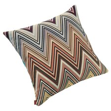 Kew Throw Pillow in Ivory & Orange