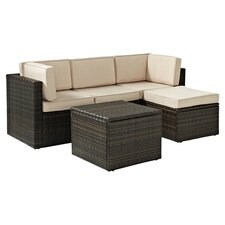 Palm Harbor 5 Piece Seating Group in Brown with Beige Cushions