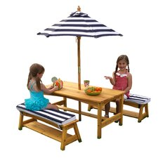 Kids 4 Piece Table & Chair Set