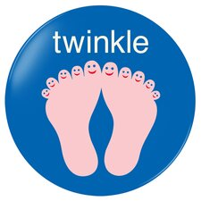 Twinkle Toes Plate in Blue