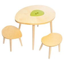 Kid's Owyn 3 Piece Table & Stool Set in Natural