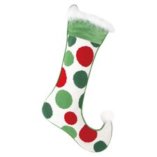Polka Dots Needlepoint Stocking