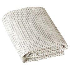 Chevron Fitted Crib Sheet in Chocolate & White