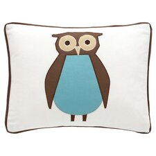 Owls Boudoir Pillow in Chocolate & White