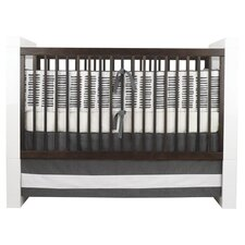 Sticks Motif Crib Bedding Set in Pewter